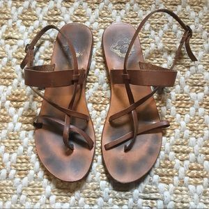 Ecote Urban Outfitters leather sandals size 7